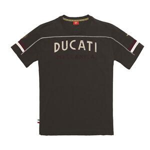 Ducati Meccanica T-Shirt Short Sleeve Mens Motorcycle Motorbike Black SALE