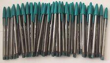 Lot of 50 DARK GREEN Bic Cristal Ballpoint Pens 1.6mm, Xtra-Bold SALE PRICE!!