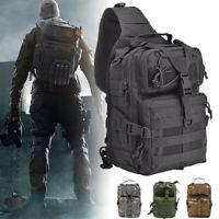 Outdoor Military Tactical Sling Backpack Army Waterproof EDC Travel Rucksack Bag