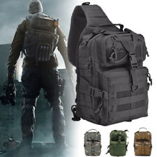 Outdoor Military Tactical Sling Backpack Army Molle Waterproof Rucksack Bag#