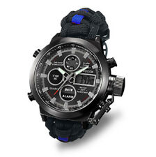 More details for paracord watch with the police force colours great gift water resistant 3atm