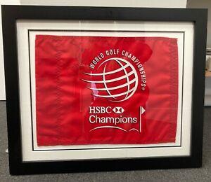World Golf Championship 2012 HSBC Framed, Signed Winner's Pinflag - Ian Poulter