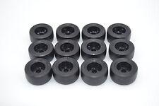 LEGO 12 x Rad Reifen 30.4x14 glatt Felge schwarz Hartplastic 32146   black wheel