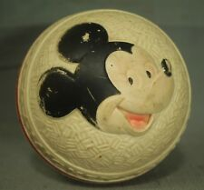 rare vintage old SUN RUBBER Mickey Mouse toy rubber ball walt disney products