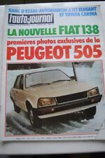 L AUTO JOURNAL 5 1978 TOYOTA CARINA AUTOBIANCHI A 112 ELEGANT 505 FIAT 138