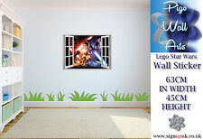Star Wars Lego 3d Effect Wall Art Sticker Children's room décor large