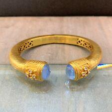 Julie Vos Paris Collection - Ice Blue Luxe Demi Hinge Cuff Bracelet - NEW