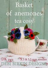 Basket of Anemones flowers Tea Cosy knitting pattern Cosies cozy cozies