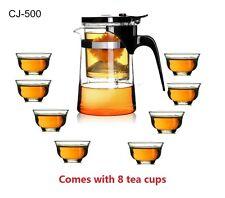 Kendal 16 oz Tea Maker Teapot with 8 tea cups CJ-500 s2