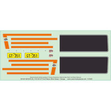 Ford XW GT Falcon Decals - 1/18 1/25