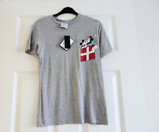 TOP LADIES  GREY   MICKEY & MINIE MOUSE SHORT   SLEEVE     SIZE   4 NEW NWT
