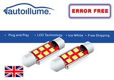 2x 39mm Festoon LED White Bulb Error Free Canbus 6 SMD 3030 Xenon Light 12V