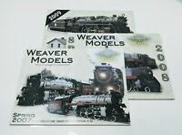 Lot of 3 Weaver Models Train Catalog Hobby Magazine w/Supplements & Price Lists