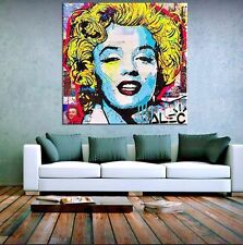 Alec Monopoly Dilon Boy Oil Painting on Canvas Urban art Marylin Monroe 28x28""