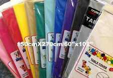Plastic Table Cloth Party Wedding Rectangle Disposable Table Cover 150cmx274cm