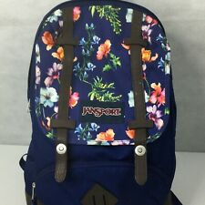 Jansport Backpack Digital Student Floral Blue Book Bag Travel Weekender Retro