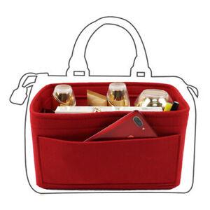 Felt Insert Bag Purse Organizer Bag in Bag with Multi Pockets,Fits for Speedy 30