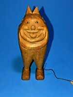 Vtg 50's Hand Carved Wood Figurine Billiken Forest Monster USA Artist R. Thayer