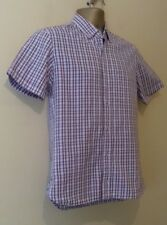 Wolsey Men's  Button Down Royal Oxford Check   Shirt Size Small   Free P&P