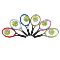 2pcs/set Doll House Miniature Mini Tennis Racket & Ball Model Accessory Toys JR