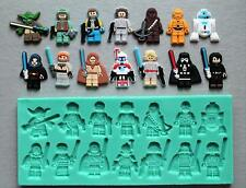 Silicone Mould Lego Star Wars Characters set Cake Decorating Fondant / fimo mold
