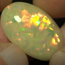 25.41 ct Superb Full Bright Ethiopian Opal Cabochon (  Must See Video !! )