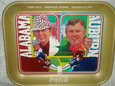 VINTAGE BRYANT/JORDAN ALABAMA AUBURN SEC COCA COLA METAL SERVING TRAY NOS 1975