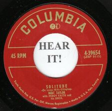 Burt Taylor POP 45 (Columbia 39654) Solitude/I'll Walk Alone VG++