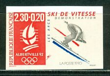 France Olympische Spiele Olympic Games 1992 Imperforated Downhill Skiing MNH