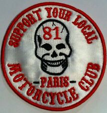 Patch support 81 Paris Skull Vintage