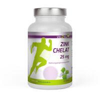 Vita2You Zink Chelat 25mg - 120 Kpaseln - Zinc - Hochwertiges Zink-Bisglycinat