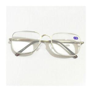 Reading Glasses +6.50 7.00 7.50 8.00 Strength Black Silver Metal Frame Eyewear