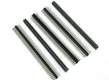 5 Pieces 2x40 Right Angle Breakable Male Pin Header 2.54mm Pitch 80Pin