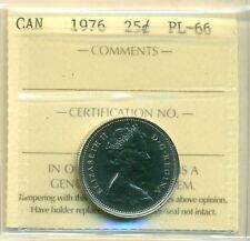 1976 Canada 25 Cent ICCS PL-66, Very Affordable for New Hobbyist