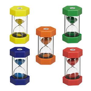 XXL Sanduhren Set 5-teilig Uhr Zeit 1/5/10/15/30 Minuten Kunststoff Glas Sand