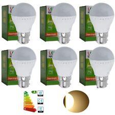 6x Warm White B22 3W LED Globe Light Bulb Spotlight Ball Shape Energy Saving