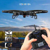UDI U818A-HD Quad-copter 2.4GHz 4 CH 6 AXIS Headless IOC RC HD Camera 360°