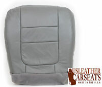2001 Ford F250 Lariat 6.8L V10 CREW -Driver Side Bottom LEATHER Seat Cover Gray