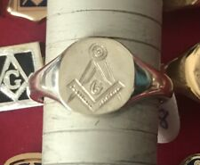 More details for sterling silver masonic ring