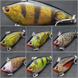 Lipless Crankbaits Fishing Lures 2 1/4 inch 1/3 oz Trap Sinking Lifelike HL540