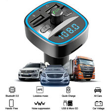 Car Bluetooth Fm Transmitter Qc3.0 Usb Charger Adapter Radio Player Accessories
