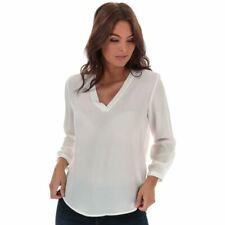 Women's Jacqueline de Yong Milo V-Neck Loose Fit Top in White