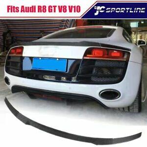 Fits Audi R8 GT V8 V10 Coupe 2008-2015 Carbon Fiber Rear Trunk Spoiler Lip Wing