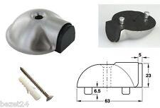 Boden Türpuffer / Türstopper Edelstahl A2 Schildkröte 63mm �˜ +Dübel & Schraube