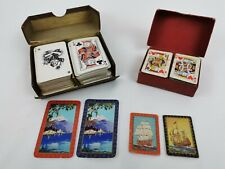 x 2 sets Vintage Undersized Playing Cards in Original Box