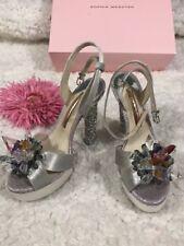 Sophia Webster Glacia Platform Silver Crystal Heel High Heel Sz 36 $650 New!!