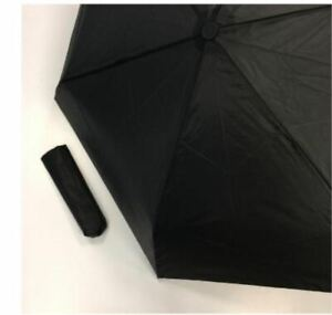 Black totes Compact Round Ultra Small Handy Size Strong Steel Frame