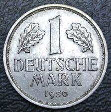 1950 F GERMANY Federal Republic - 1 DEUTSCHE MARK - COPPER-NICKEL - Nice Coin
