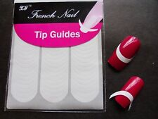 2x Nail Art French Tips Stickers Manicure Guides Curved Half Moon UV Gel Stencil