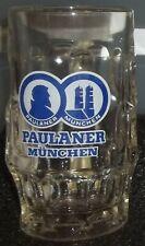 Belle & Ancienne Chope à Bière en Verre -PAULANER MÛNCHEN-  25 cl en Bon Etat
